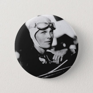 Vintage Amelia Earhart Photo 6 Cm Round Badge