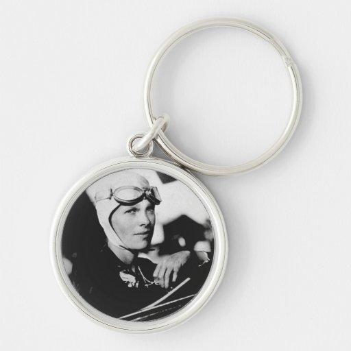 Vintage Amelia Earhart Photo Keychains