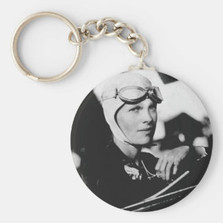 Vintage Amelia Earhart Photo Key Ring