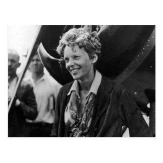Vintage Amelia Earhart Photo Portrait Postcard