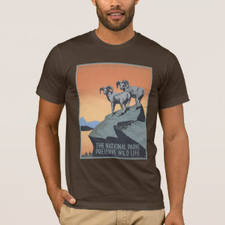 Vintage America National Parks Preserve Wildlife T-Shirt