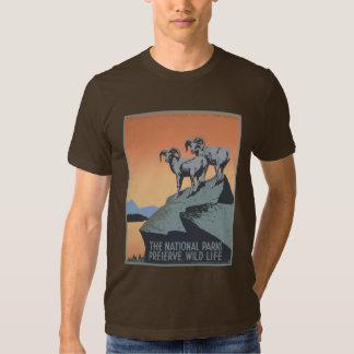 Vintage America National Parks Preserve Wildlife T-shirts