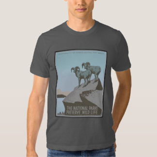Vintage America National Parks Preserve Wildlife Tees