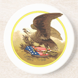 Vintage American Bald Eagle Coaster