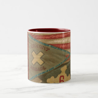 Vintage American Civil War Vermont Brigade Banner Two-Tone Coffee Mug