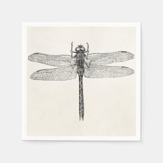 Vintage American Dragonfly Dragon Fly Template Paper Napkin