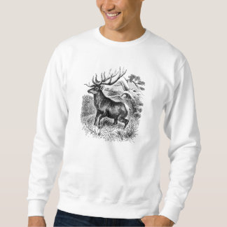 Vintage American Elk Personalized Old Illustration Sweatshirt