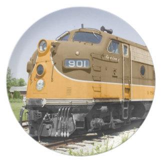 Vintage American F-Unit Diesel Train Plate