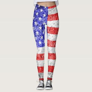 Vintage American Flag #12 Leggings