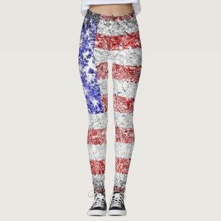 Vintage American Flag #17 Leggings