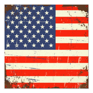 Vintage American Flag Card