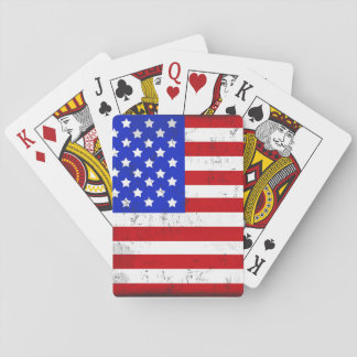 Vintage American Flag Classic Playing Cards