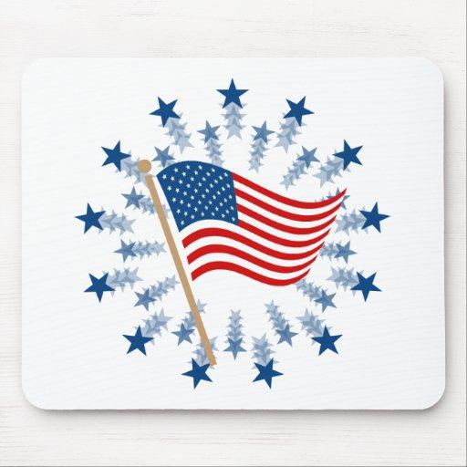 Vintage American Flag Clip Art Mouse PadVintage American Flag Border Clip Art