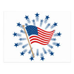 Vintage American Flag Clip Art Post Card