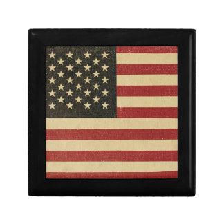 Vintage American Flag Gift Box