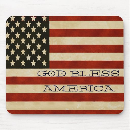 Vintage American Flag GIFTS Mousepads