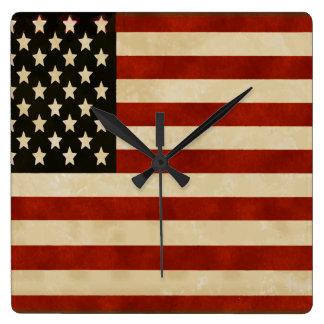 Vintage American Flag GIFTS Wallclocks