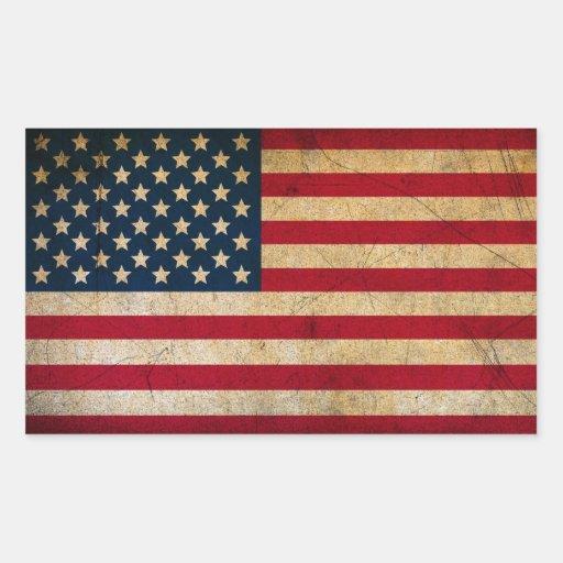 Vintage American Flag / Grunge US Flag Stickers