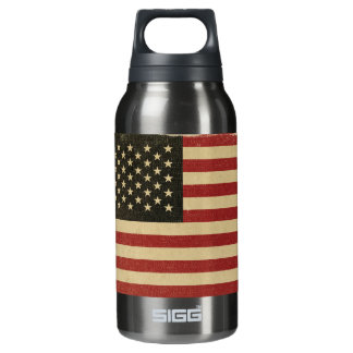 Vintage American Flag Insulated Water Bottle