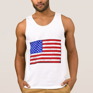 Vintage American Flag Men's Tank Top