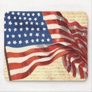 Vintage American Flag Mouse Mat