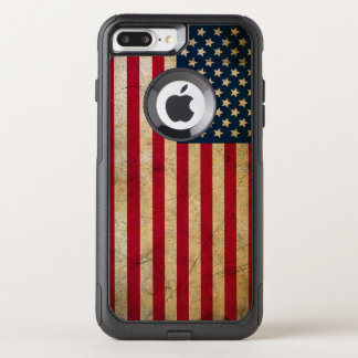 Vintage American Flag OtterBox Commuter iPhone 7 Plus Case