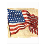 Vintage American Flag Post Cards