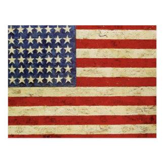 Vintage American Flag Postcard