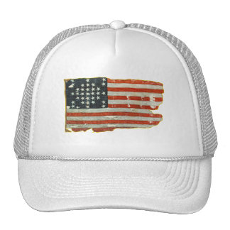 Vintage American Flag Products Mesh Hats