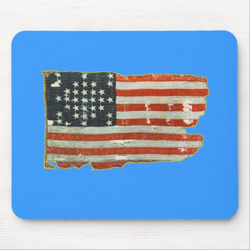 Vintage American Flag Products Mouse Mat