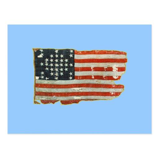 Vintage American Flag Products Postcard