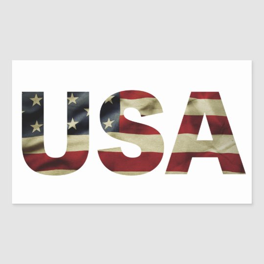 Vintage American Flag Rectangular Sticker