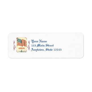 Vintage American Flag Return Address Labels
