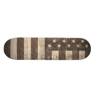 Vintage American Flag - Skateboard