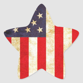 Vintage American Flag Star Sticker