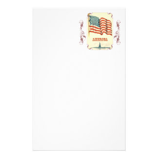 Vintage American Flag Stationery