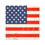 Vintage American Flag Stretched Canvas Prints