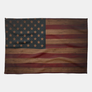Vintage American Flag Tea Towel