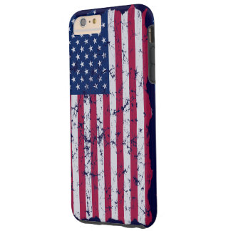 Vintage American Flag Tough iPhone 6 Plus Case