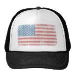 Vintage American Flag Trucker Hats