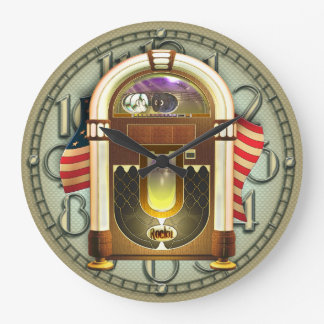 Vintage American Jukebox Wall Clock
