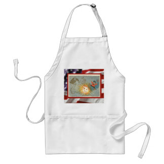 Vintage  American Patriotic, 4th July Firecrackers Adult Apron