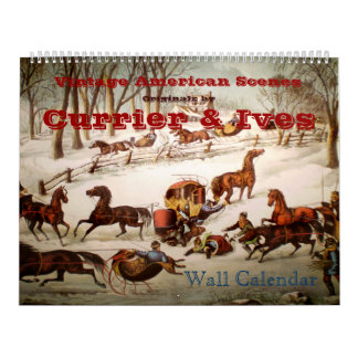 Vintage American Scenes Wall Calendar