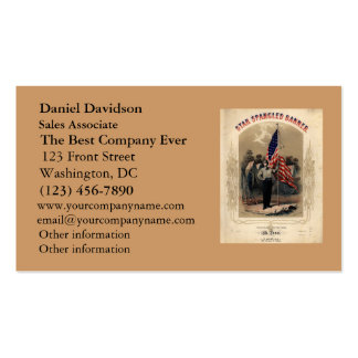 Vintage American Soldier and U S Flag Business Card