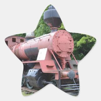 Vintage American Steam Locomotive Star Sticker