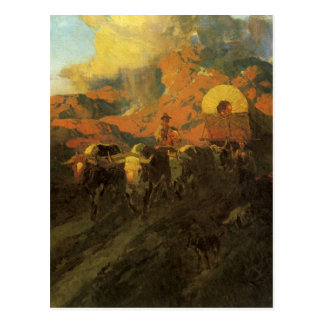 Vintage American West, Overland Trail by Johnson Postcard