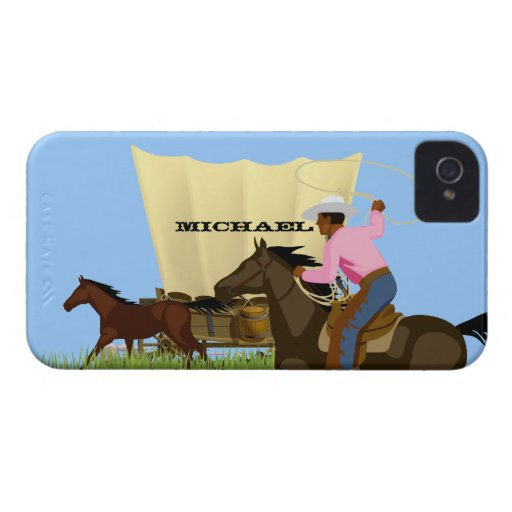 Vintage American Wild West Cowboy Life iPhone Case iPhone 4 Covers