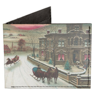 Vintage American winter scene