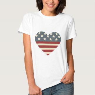 Vintage Americana Heart T Shirt
