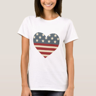 Vintage Americana Heart T-Shirt
